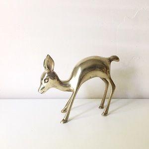 🆕 Listing!  Vintage | Brass Bambi Deer